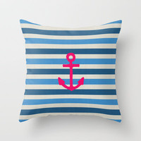 STAY Throw Pillow by Bianca Green