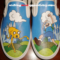 Handpainted Adventure Time Shoes VANS by WalkingDeadApparel