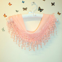 Peach,Scarf for Spring,Headband,Triangle Scarf