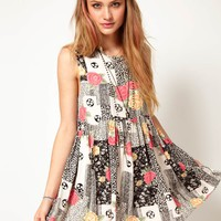 Minkpink | Minkpink Mini Dress in Patchwork Print at ASOS