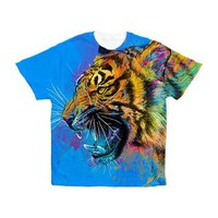 Angry Tiger Men's All Over Print T-Shirt Olechka Art and Design
