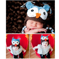 Owl Beanie For Babies and Newborns from Purty Products