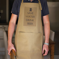 &#x27;Save Water Drink Beer&#x27; Apron