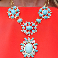 All For You Necklace: Mint/Gold   Hope's
