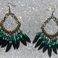 Wild Faerie - Jewel Beetle Wing Earrings