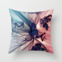 Smoke Throw Pillow by JR Schmidt