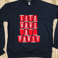 Lets Have A Party (Crew Neck) - Howdy - Skreened T-shirts, Organic Shirts, Hoodies, Kids Tees, Baby One-Pieces and Tote Bags