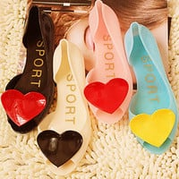 heart jelly flats