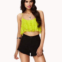 Ruffled Lace Crop Top | FOREVER 21 - 2059647712