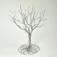 This shiny aluminum wire tree brightens any room by BarbaraCsCreations on Zibbet