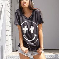 Mineral Wash Happy Face Tee