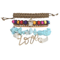 Love Beaded Friendship Bracelet | Shop Jewelry at Wet Seal