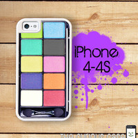 iPhone 4 4S Mighty Case - 2 Part Protective iPhone 4 Case  iPhone 4S Case - Rainbow Eyeshadow Case