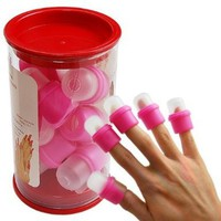 10PC wearable nail art soakers Ongl...