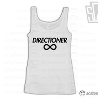 One Direction &quot;Directioner&quot; Singlet - 1D Tank Top Harry Styles, Niall Horan, Zayn Malik, Liam Payne, Louis Tomlinson- Item: 011