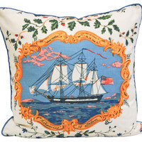 One Kings Lane - A Vintage Marine Mood - Brunschwig & Fils Fabric Pillow