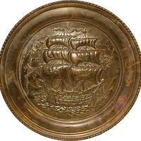 One Kings Lane - A Vintage Marine Mood - English Ship Plaque