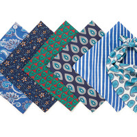 One Kings Lane - Pet Picks - S/6 Dog Bandanas, Blue