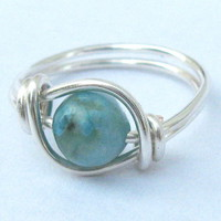 Turquoise Jasper Gemstone Ring In Silver | Luulla
