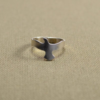 Soaring bird ring handmade in sterling silver
