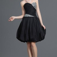Black Ball Gown Knee-length Sweetheart Dress [2635910] - $100.00 : dressoutletstore.co.uk, Wedding Dresses Outlet