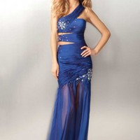 Blue Sheath Floor-length Strapless Dress [2519816] - $129.00 : dressoutletstore.co.uk, Wedding Dresses Outlet