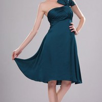 Blue A-line Knee-length Strapless Dress [5104225] - $71.00 : dressoutletstore.co.uk, Wedding Dresses Outlet