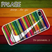 Nike Just do it with aztec : Case For Iphone 4/4s ,5 / Samsung S2,3,4