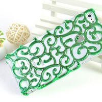 Mint Hollow Flower Vine Case for iPhone 5