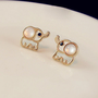 SakuraShop  Cute Elephant Studs