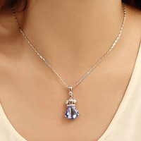 Mermaid Princess Pendant with Swarovski Elements