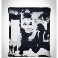 Audrey Breakfast at Tiffanys Fleece Blanket
