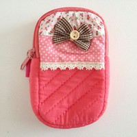 Cute pink mini pouch from Kitsch Garage
