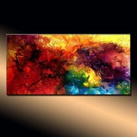 Original Abstract painting Contemporary by newwaveartgallery