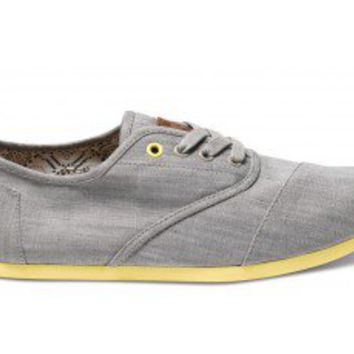 Grey Denim Yellow Pop Men's Cordones | TOMS.com