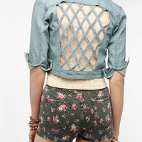 Urban Outfitters - CourtShop Lattice Back Denim Jacket