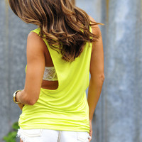 Stay By My Side Top: Chartreuse | Hope&#x27;s