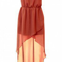 LOVE Rust Chiffon Strapless Asymmetrical Maxi - Love