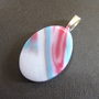 Glass Pendant, Oval Glass Necklace Pendant - Sensual - 3981