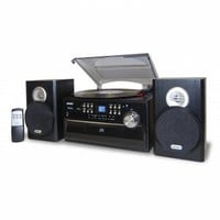 Jensen 3-Speed Stereo Turntable with CD System, Cassette and AM/FM Stereo Radio [Model JTA-475] : Home Stereo Systems : Gift Gallore