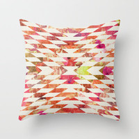 FLORAL EXPLOSION Throw Pillow by Bianca Green