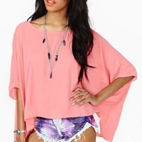 Sunlight Dolman Top - Coral