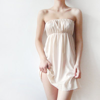 Beige lingerie strapless camisole dress made from a by WhimsyTime