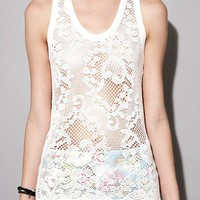 Floral net tank [Dre2954] - $60.00 : Pixie Market, Fashion-Super-Market