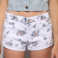 Floral denim shorts [Mik3822] - $89.00 : Pixie Market, Fashion-Super-Market