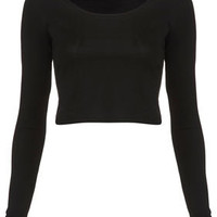 Long Sleeve Crop Tee - Bralets & Cropped Tops - Jersey Tops  - Clothing