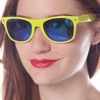 Candy Colored Wayfarer Sunglasses - Lime from Jewelry & Accessories at Lucky 21 Lucky 21