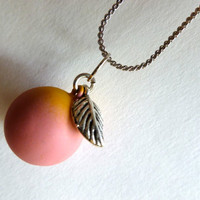Pretty Peach Melody Chime Charm Necklace