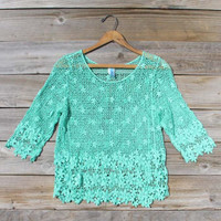 Sea & Song Blouse, Sweet Women's Bohemian Clothing