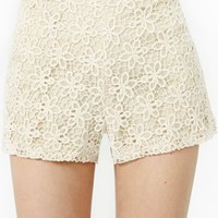 Flower Child Crochet Shorts